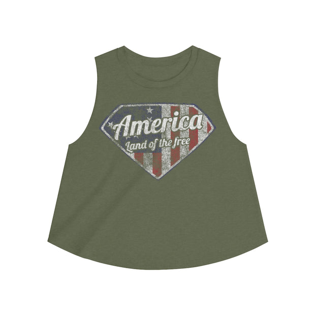 Women's Crop top - America Land Of The Free