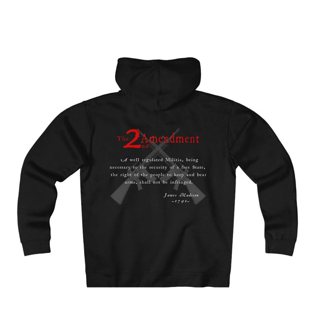 Men's Heavyweight Fleece Zip Hoodie - 2nd Amendment