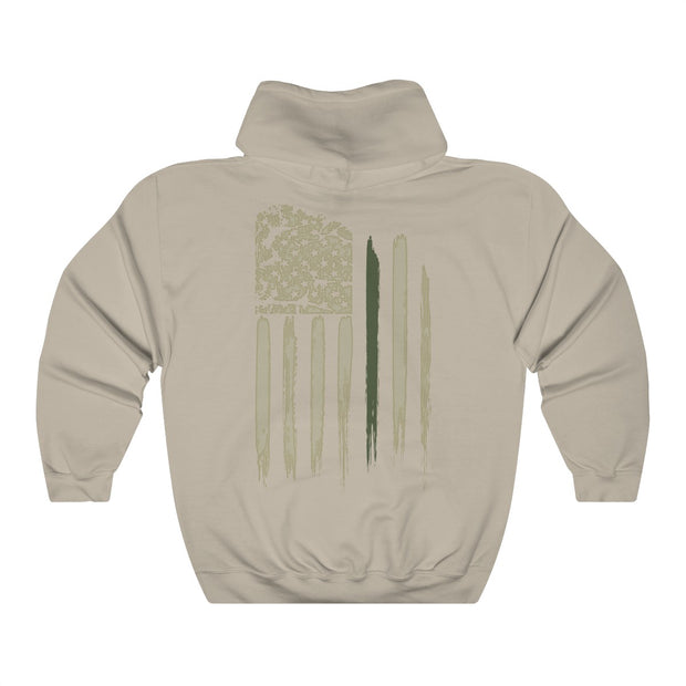 Men's Hooded Sweatshirt - Thin Green Line Flag