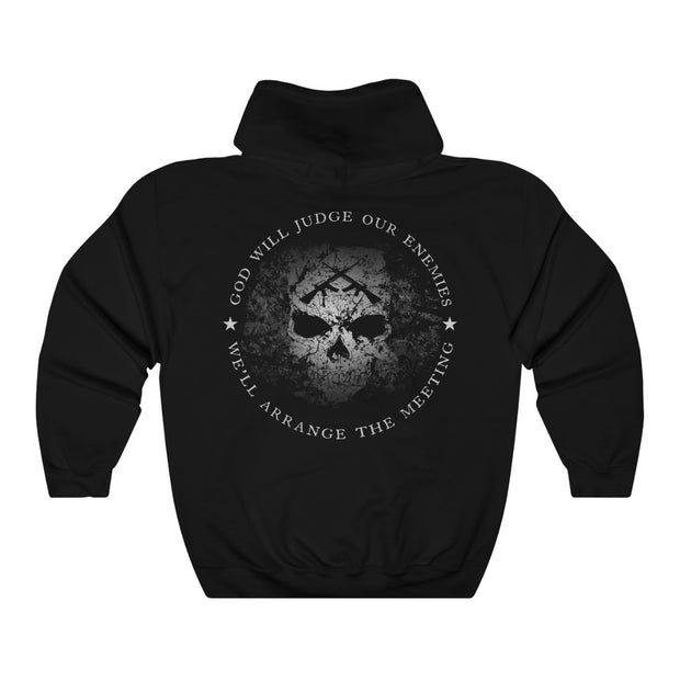 Men's Hoodie - God Will Judge Our Enemies We'll Arrange The Meeting