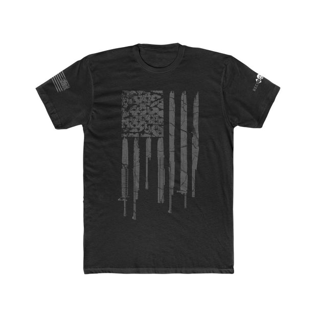 Men's T-Shirt - Grunge Rifle Flag