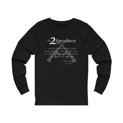 Men's Jersey Long Sleeve Tee - 2nd Amendment