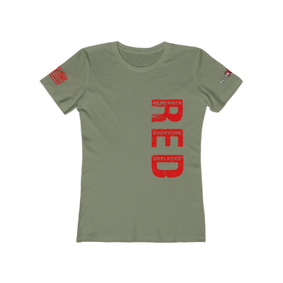 Women's Boyfriend Tee - Remember Everyone Deployed (RED Design)