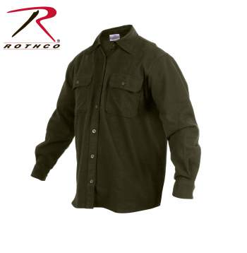 Rothco Heavy Weight Solid Flannel Shirt (Olive Drab)