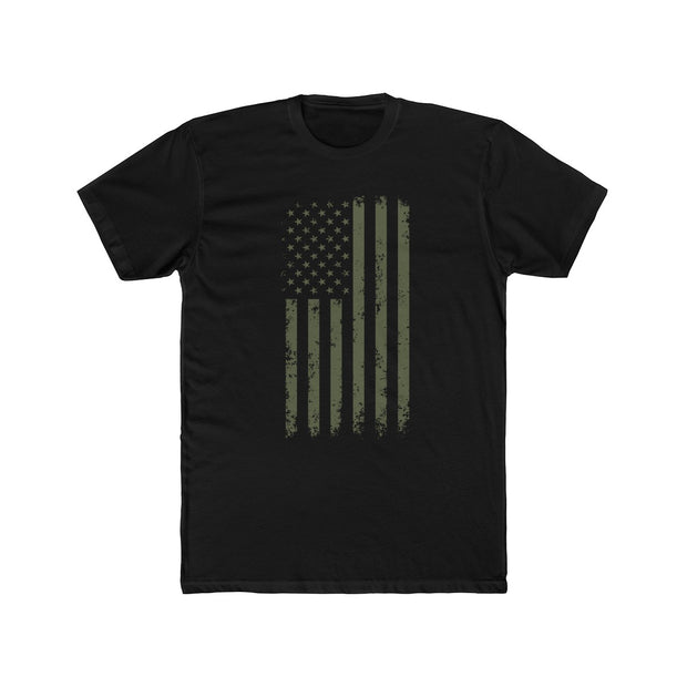 Men's T-Shirt Military Green Freedom Flag