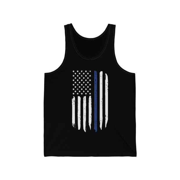Men's Tank Top - Thin Blue Line Flag