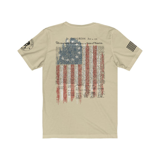 Men's T-Shirt - Betsy Ross Flag with Declaration of Independence
