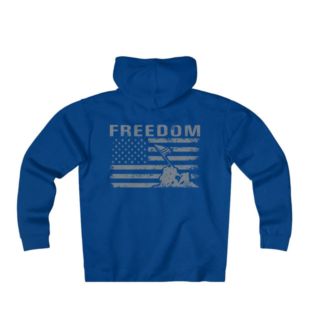 Men's Heavyweight Fleece Zip Hoodie - Freedom Flag