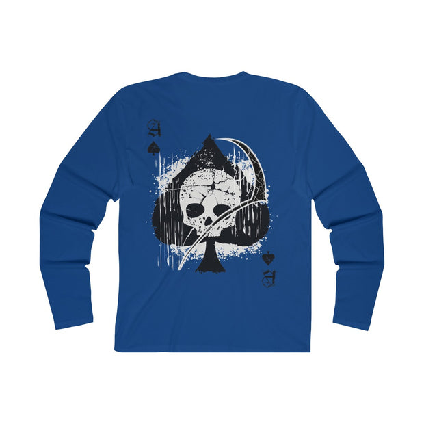 Men's Long Sleeve T-Shirt - Ace of Spades Death Card
