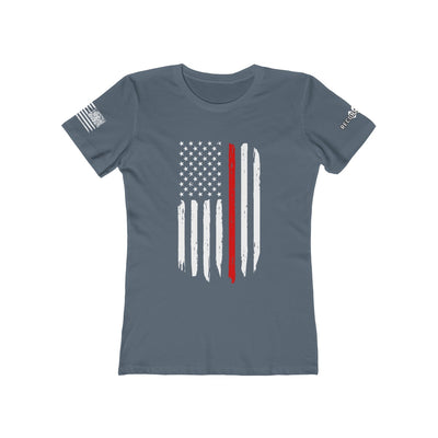 Women's Boyfriend Tee - Thin Red Line