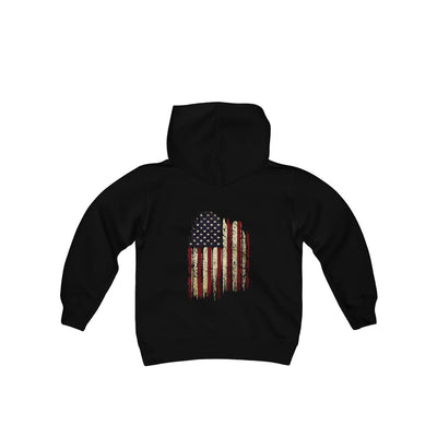 Youth Pullover Hoodie- Old Glory Flag