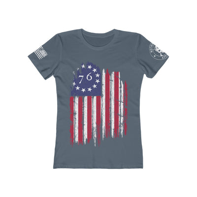 Women's Feminine Cut Tee - The Betsy Ross 76 Flag