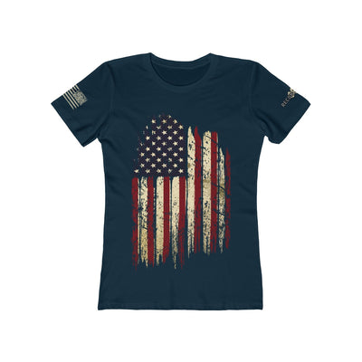 Women's Boyfriend Tee - Old Glory (Design on Front)