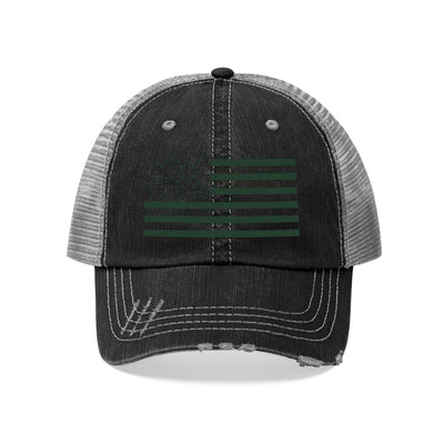 Dark Green Flag on Black - Trucker Cap