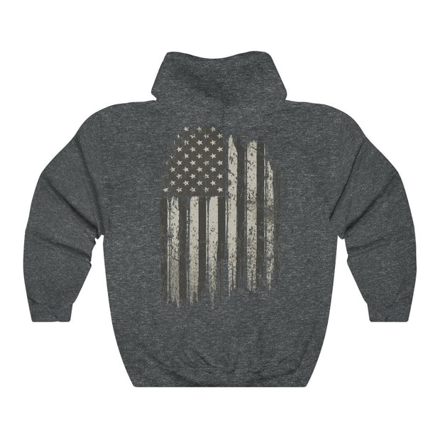 Men's & Women's Hoodie - Old Glory - Charcoal Style