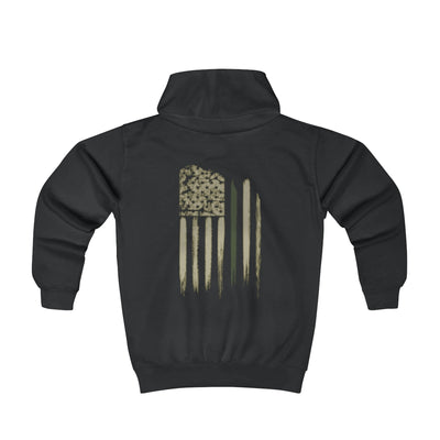 Youth Hoodie - Thin Green Line