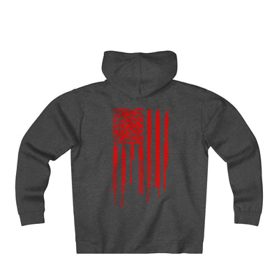 Men's Heavyweight Fleece Rifle Flag Hoodie