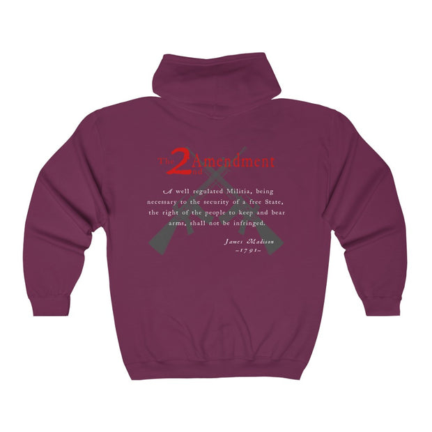 Women's Heavy Full Zip Hoodie - 2nd Amendment