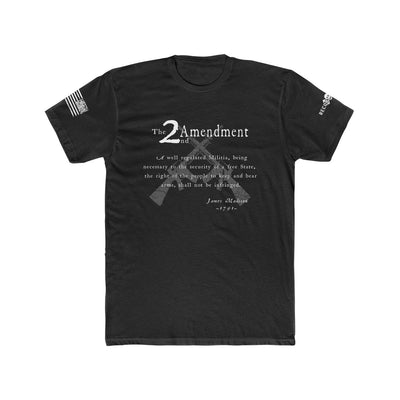 Men's T-Shirt - 2nd Amendment - Black and White