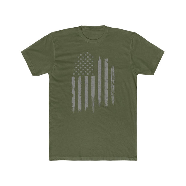 Men's T-Shirt - Gray Flag (Grunge style)