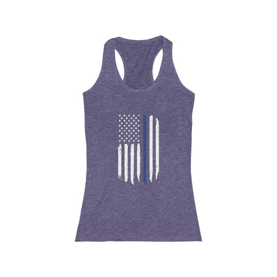 Women's Racerback Tank - Thin Blue Line Flag