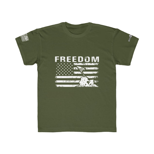 Youth T-Shirt - Freedom Flag (White Design)
