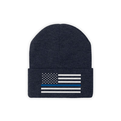 Knit Beanie - Thin Blue Line