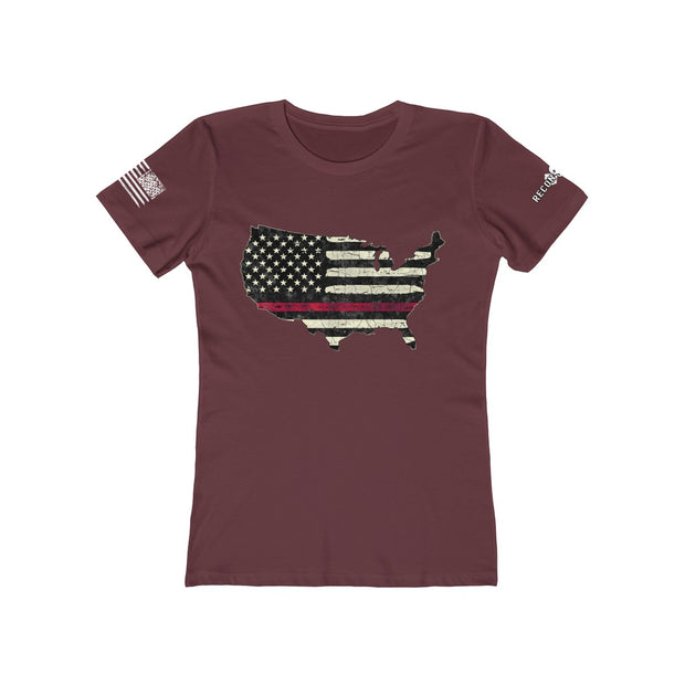Women's Boyfriend Tee - Thin Red Line USA