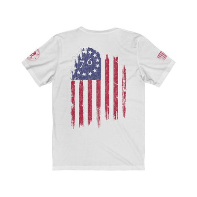 Men's T Shirt - The Betsy Ross 76 Flag (Design on Back)