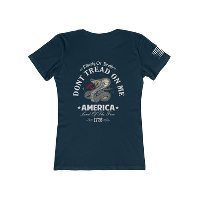 Women's Boyfriend Tee - Don't Tread On Me - Liberty or Death