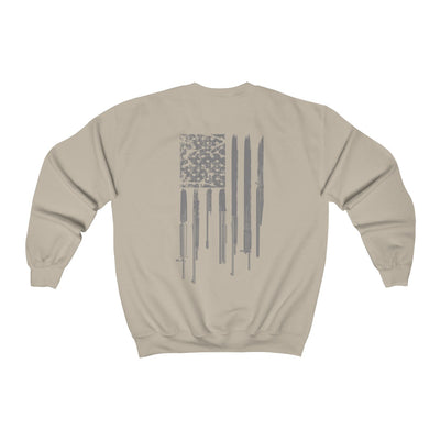 Men's Crewneck Sweatshirt - Rifle Flag