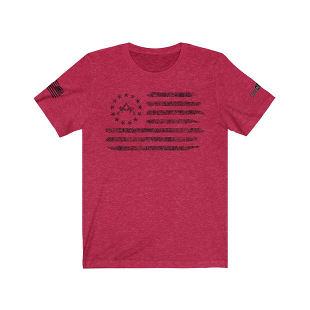Men's & Women's T-Shirt - Betsy Ross Crossed Rifle Flag