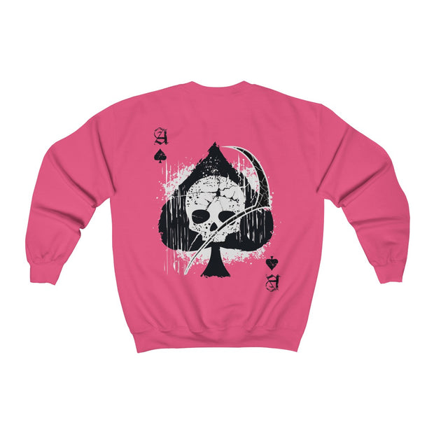 Women's Crewneck Sweatshirt - Ace of Spades Death Card