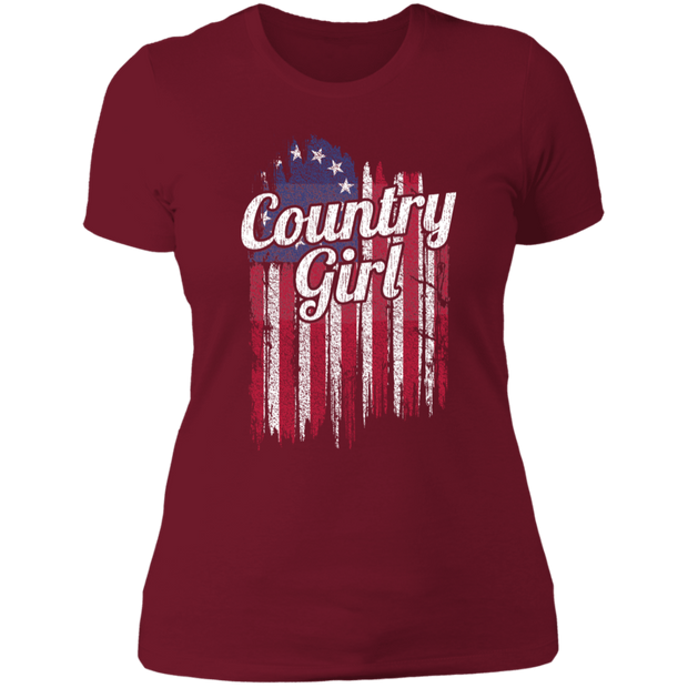 Ladies' T-Shirt - American Country Girl