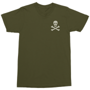 Retro Military T-Shirt with Skull & Crossbones