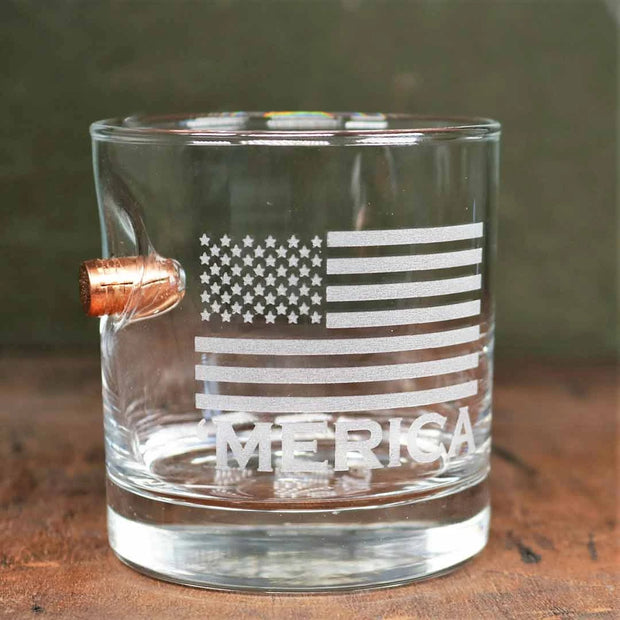 'Merica Rocks Glass -11 oz