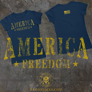 Women's T-Shirt - America Freedom (Made In The USA)