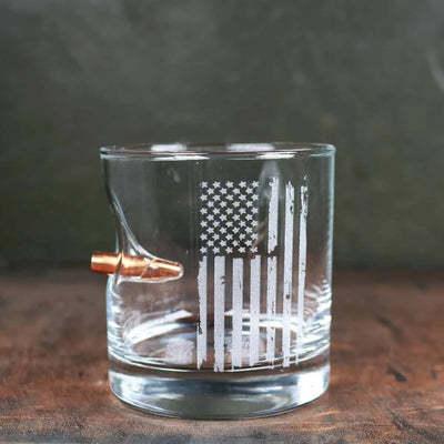 Patriotic Rocks Glass- 11oz