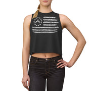 Women's Crop top - Betsy Ross Crossed Rifle Flag
