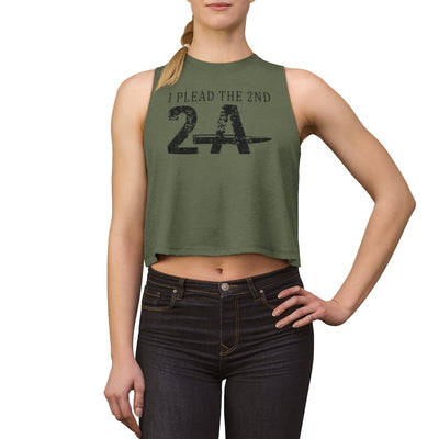 Women's Crop top - I Plead The 2nd