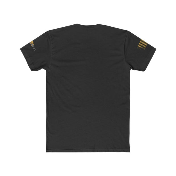 Men's T-Shirt - Freedom Flag in Gold