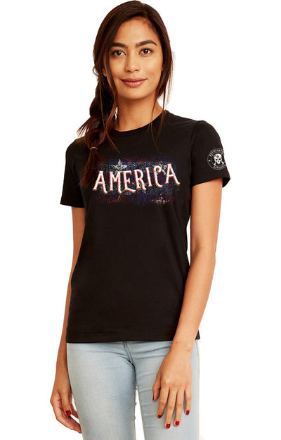 WOMEN'S BOYFRIEND TEE - AMERICA (Made In USA)