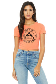 WOMEN'S POLY-COTTON CROP TEE - Ain't No Valley Girl (V2)