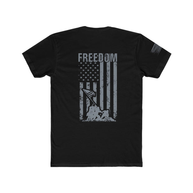 Men's T-Shirt - Freedom Flag (Gray Flag)