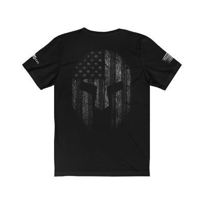 Men's T-Shirt - Spartan Design Back In Black