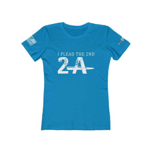 Women's Boyfriend Tee - I Plead The 2nd