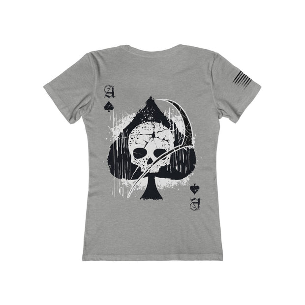 Women's Boyfriend Tee - Ace of Spades Death Card