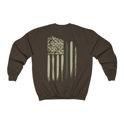 Men's Crewneck Sweatshirt - Thin Green Line Flag