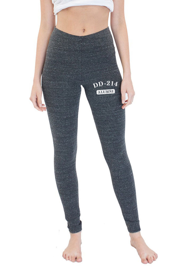 WOMEN'S ECO TRIBLEND SPANDEX JERSEY LEGGINGS - DD-214 (Made in the USA)