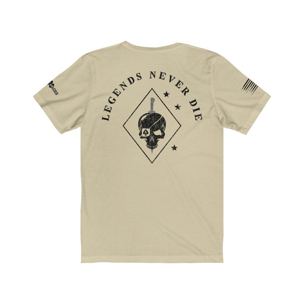 Men's T-Shirt - Legends Never Die - Blacked Out